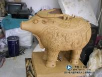 铸铜雕塑 牛尊 泥塑创作