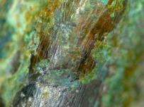 汉代朱雀青铜镜显微镜高清图片 青铜锈 铜锈 显微 图片 照片