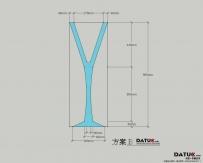 水晶杯柱  尺寸、施工图