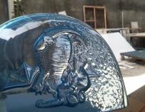 水晶琥珀 水晶浮雕 小样制作 水晶透明雕塑
