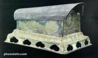 法门寺地宫 佛主 佛指 舍利  鎏金伽陵频迦鸟纹银棺