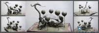玄武雕塑泥塑原创-五行雕塑设计创作