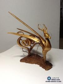 麒麟雕塑小样创作-原创设计