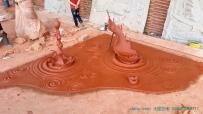 大型水滴雕塑 水晶雕塑 透明雕塑 泥塑 创作