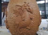 泥塑验收合格  2018.6.26-云南恐龙谷水晶雕塑