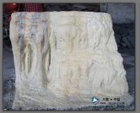 仿九寨沟黄龙五彩池假山塑石小样创作