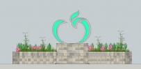 NO:10-1 不锈钢《苹果雕塑》与基础建设