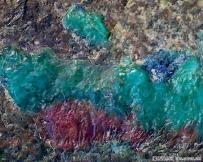 红绿蓝铜锈显微图片(顺天元宝背面)