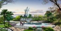 传统民俗神话道教人物吕洞宾张果老大型广场雕塑设计