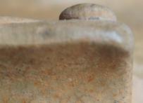 战国原始青瓷把杯局部【微距鉴赏】GC-DT-00003