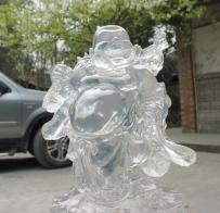 水晶弥勒佛雕塑
