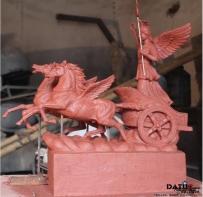 飞马 女神 战车 雕塑 泥塑 小样