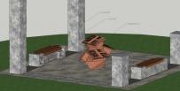 花岗石艺术凳子 铸铜文化展示台 雕塑设计-四川成都大图雕塑公司原创