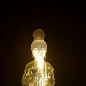 普贤菩萨  水晶透明雕塑