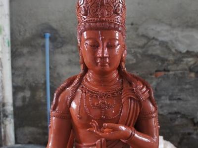 虚空藏菩萨-透明水晶佛像雕塑 泥塑创作设计