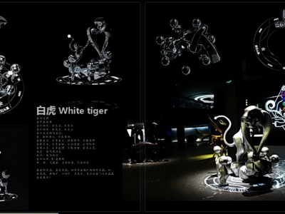 四川成都不锈钢雕塑面积  不锈钢白虎雕塑