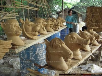 圆明园十二生肖雕塑  四川园林景观小品雕塑设计 人物 动物 仿真植物 雕塑厂